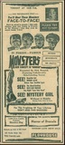 Advertisement for Halloween Spook Show at The Playhouse Theatre