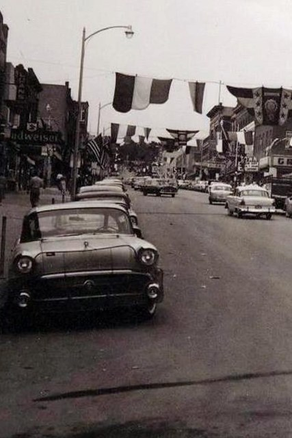 Town marquee on the right. Circa 1955 photo via Theo Tersteeg.