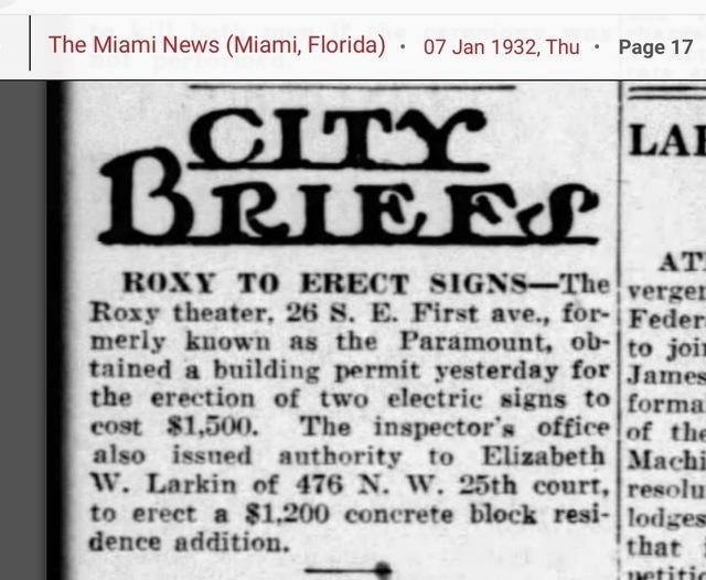 Sign Miami times