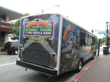 MONTEREY MOVIE TOUR BUS OUTSIDE STATE THEATRE