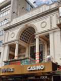 """Empire Theatre, Leicester Square - Façade to Leicester Square - No """"Banners."""""""