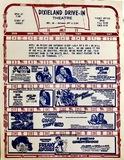 Dixieland Drive-In schedule, July 1977