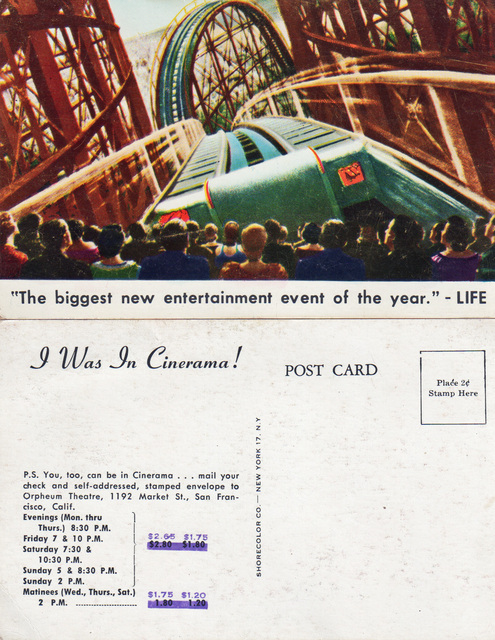 Cinerama Postcard 1952