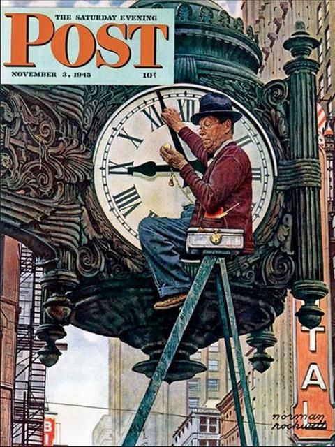 November 3rd, 1945 The Saturday Evening Post cover, Norman Rockwell painting.