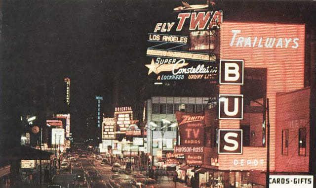 Circa 1960 postcard via John Tkalec.