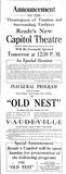 August 26th, 1921 grand opening ad