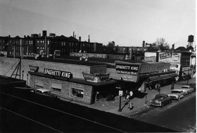 Morse Theatre far right, circa 1955 photo courtesy Jimmy Rane.