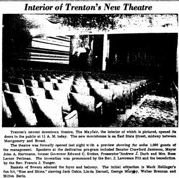 Auditorium picture in 1941