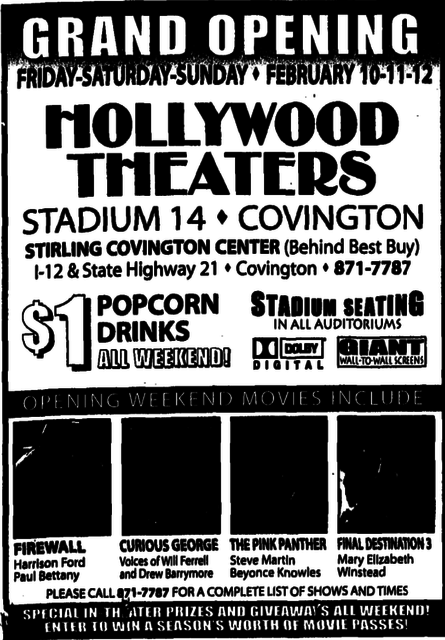 regal covington stadium 14 in covington la cinema treasures cinema treasures