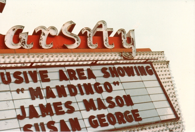Varsity Theater Marquee - 1970's
