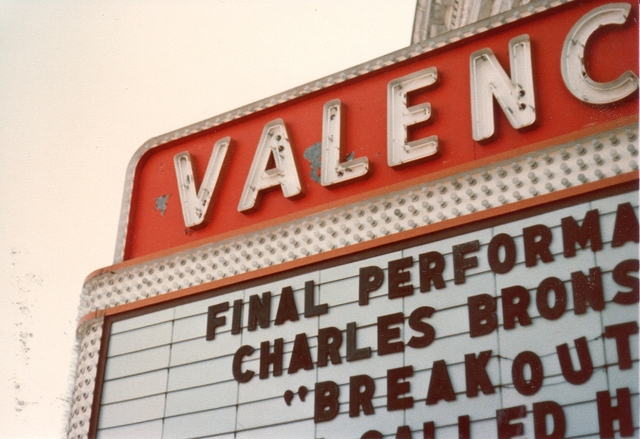 Valencia Theater Marquee - 1970's