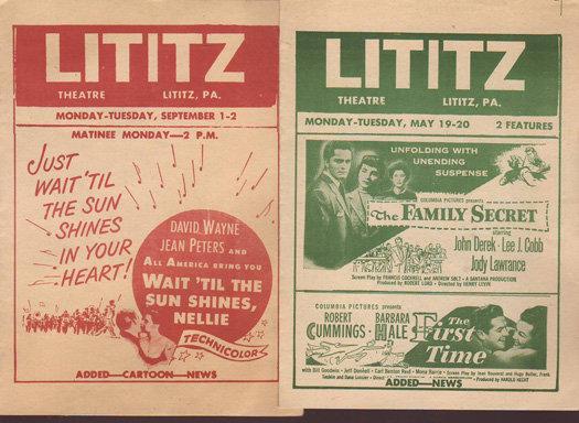 Circa 1952 image courtsey Lititz Historical Foundation.