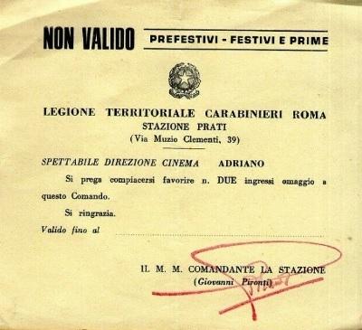 Ferrero Cinema Adriano