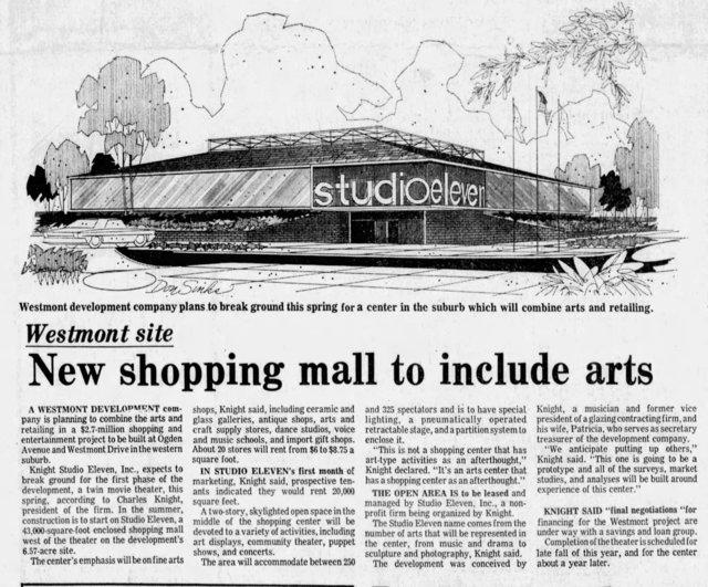 Studio Eleven Article - Chicago Tribune March 2 1975