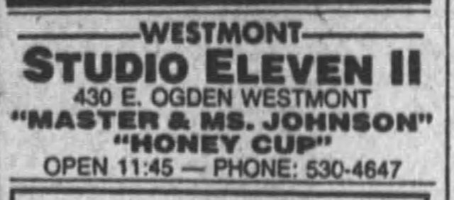Studio Eleven Movie Listing in the Chicago Tribune August 14 1981