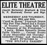 Elite Theatre July, 1914