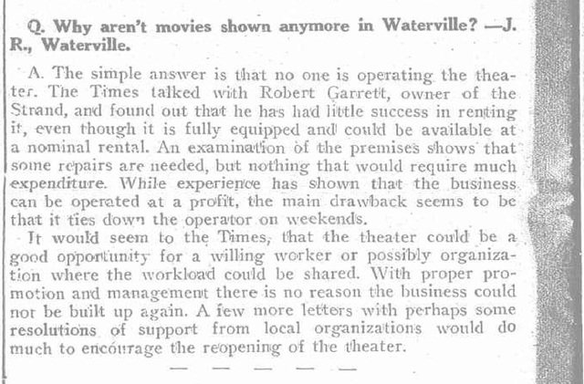 Fate of the Strand Theater