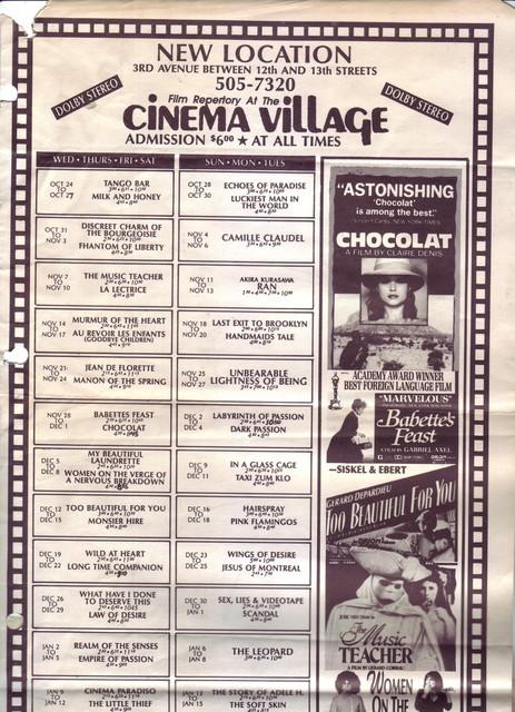 "The ""other"" Cinema Village"