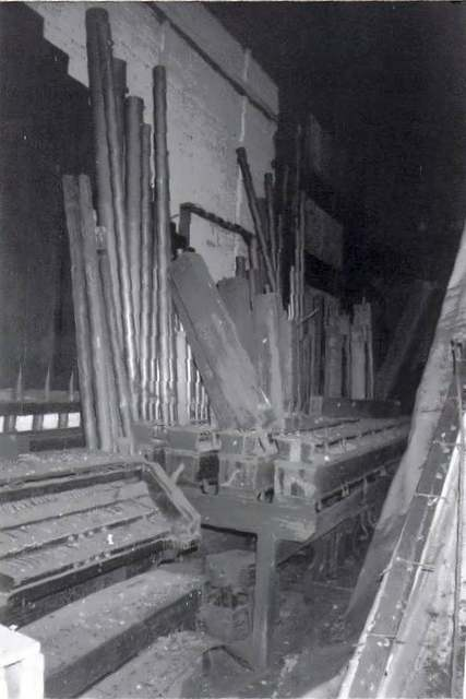 What's left of the theater pipe organ.