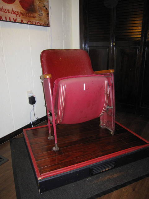 Chair Number 60 from the Will Rogers Theater