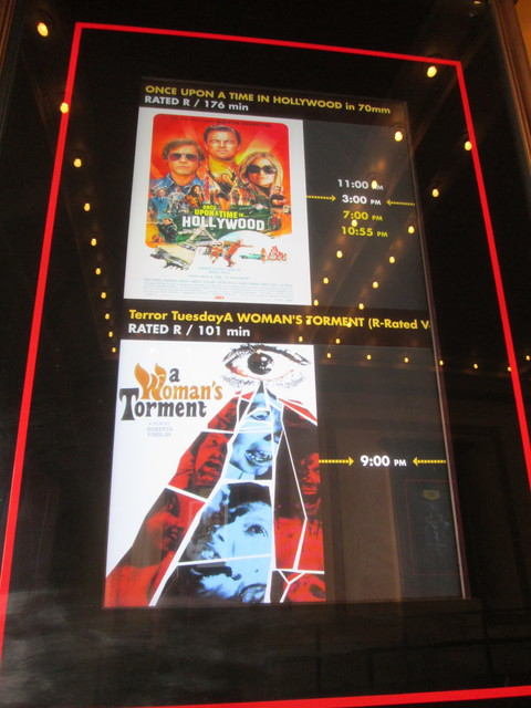 Outside Lighted Poster & Times Display For 70mm Hollywood Movie
