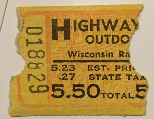 Ticket stub and description credit Tammy Koch.