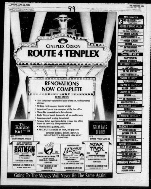 AMC Loews Paramus Route 4 Tenplex
