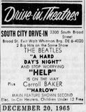 South City Drive-In Final Ad 12/20/65