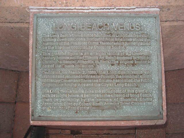 Long Beach Venus Plaque