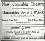 COLUMBIA Theatre; Kenosha, Wisconsin.