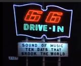 66 Drive-In marquee 1969