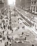 State Street Subway construction, early 1940s photo credit John Chuckman Collection.