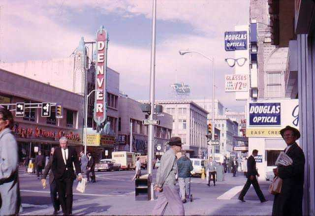 Colorized 1960s photo courtesy Beautiful and Historic North Denver Facebook page.