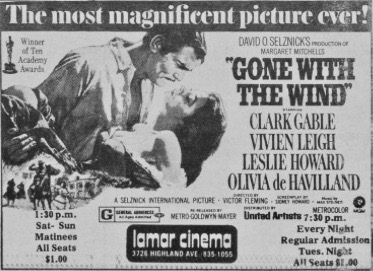 Gone With The Wind 1976 Re-Release