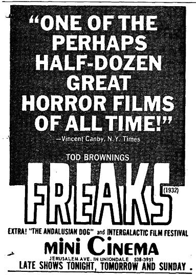 FREAKS (1932)movie