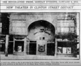 Ritz opens as Happy Hour Theater January 1912