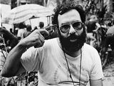 Francis Ford Coppola wearing an Orson Welles Cinema T-shirt