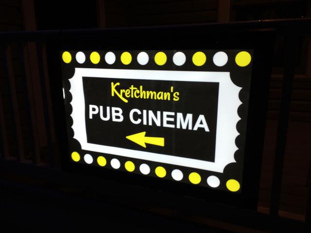 Cinema Entrance Sign