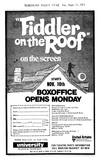 FIDDLER ON THE ROOF MAIL ORDER AD