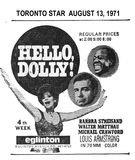 HELLO DOLLY NEWSPAPER AD