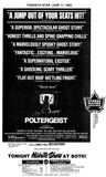 POLTERGEIST NEWSPAPER AD