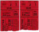 HELLO DOLLY TICKET STUBS