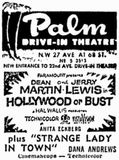 early ad for the Palm drive-in