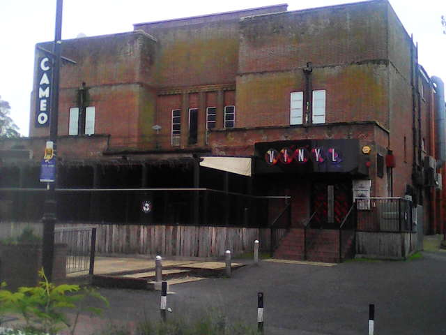 Cameo and Vinyl Nightclub, Andover - frontage now obscured
