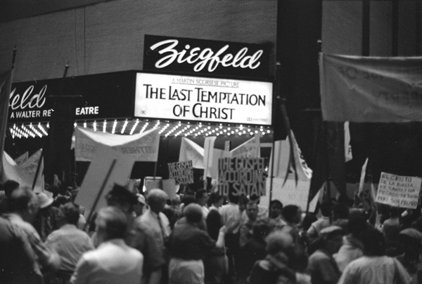 "Protest at Ziegfeld premiere, ""Last Temptation of Christ"""