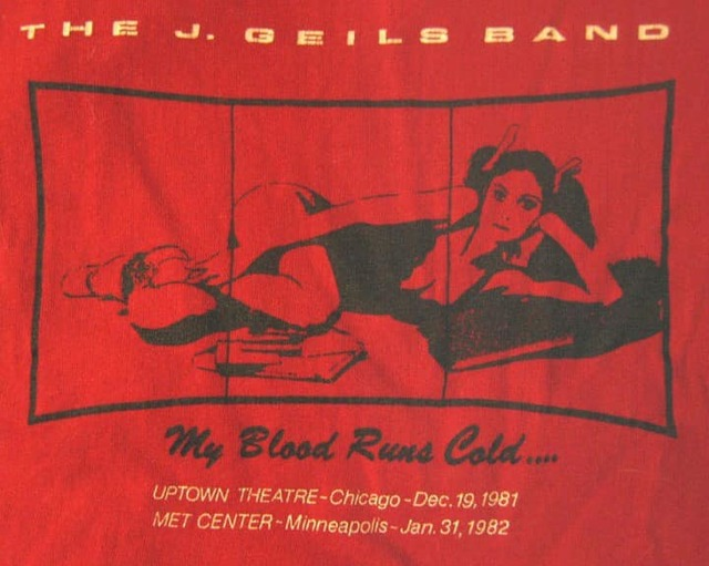 12/19/81 t-shirt designed by graphic artists Shelley Howard, for what would be the last show to date at the Uptown.