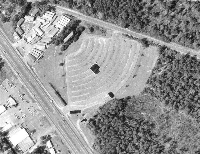Aerial View of Athens Drive-In from November 3, 1978