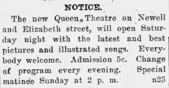 QUEEN Theatre; Kenosha, Wisconsin.