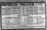 ORPHEUM (BLUE MILL) Theatre; Kenosha, Wisconsin.