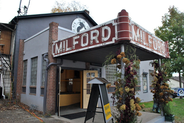 exterior of Milford Theater, closer view - Black Bear Film Festival 2011